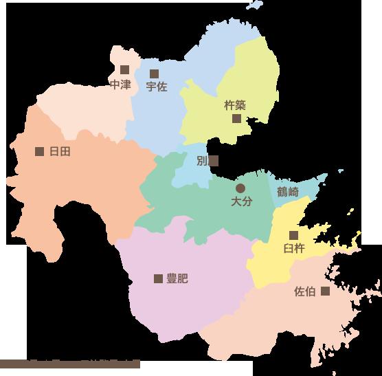大分県内マップ